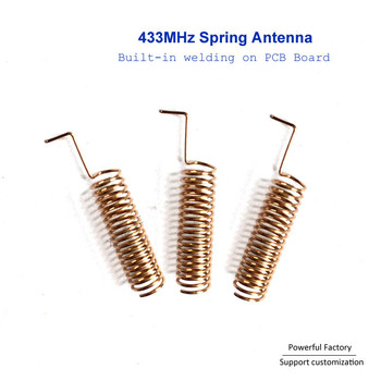 цена на Customized Air wire Sprial Coil Air Wire 433Mhz Spring-loaded Antenna  100pcs