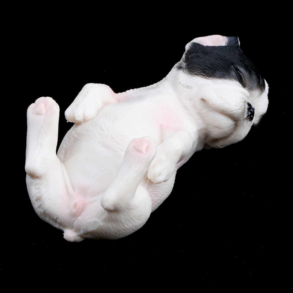 Plástico Floresta Realista Animais Do Oceano-Dormir Figura de Ação do Filhote de Cachorro do animal de Estimação Do Cão do Buldogue Francês Eduactional Brinquedos Colecionáveis # C