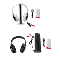 F98 2016 NewestNew 5 In 1 Hi Fi Wireless Headset Headphone Earphone For TV DVD MP3