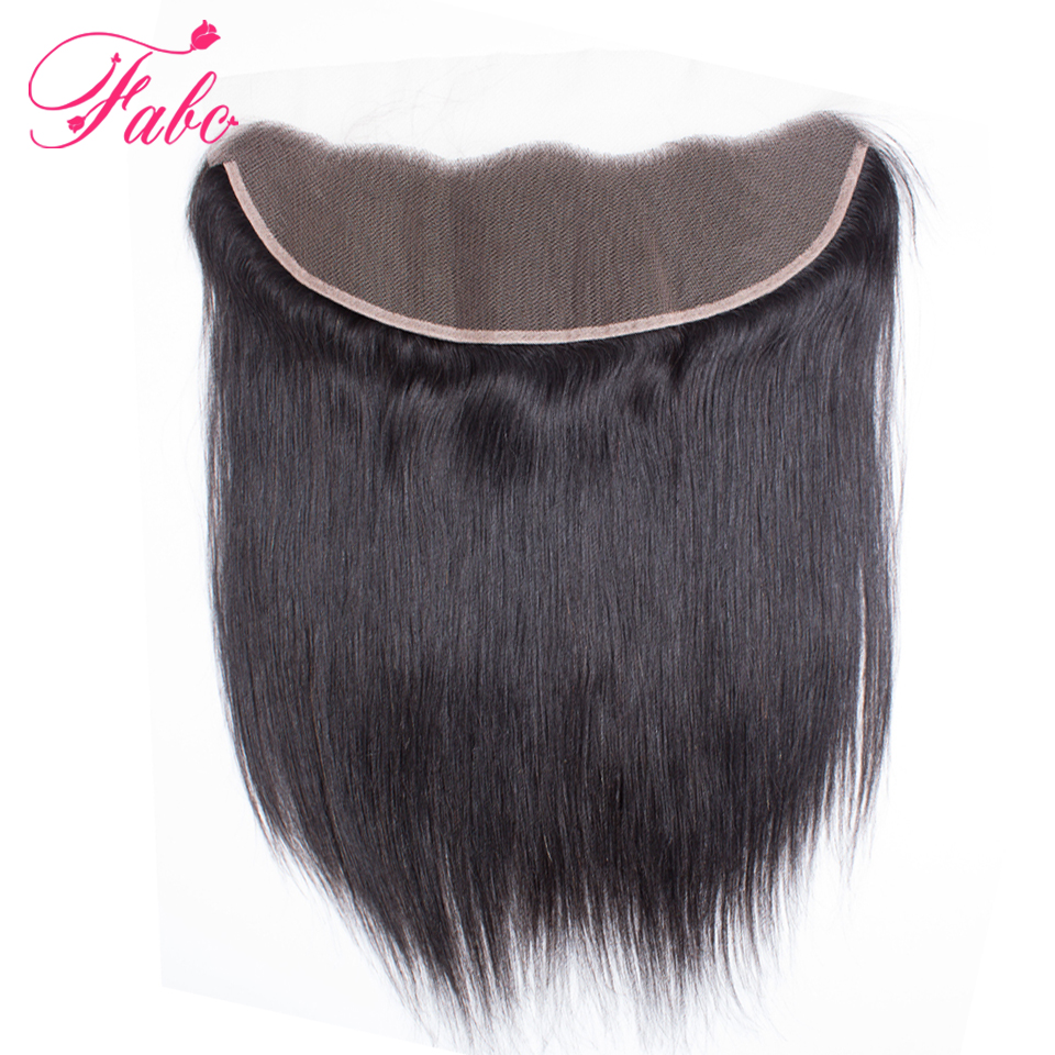 FABC brazilian lace frontal closure straight hair 13x4 free part ear to ear 130 density Remy