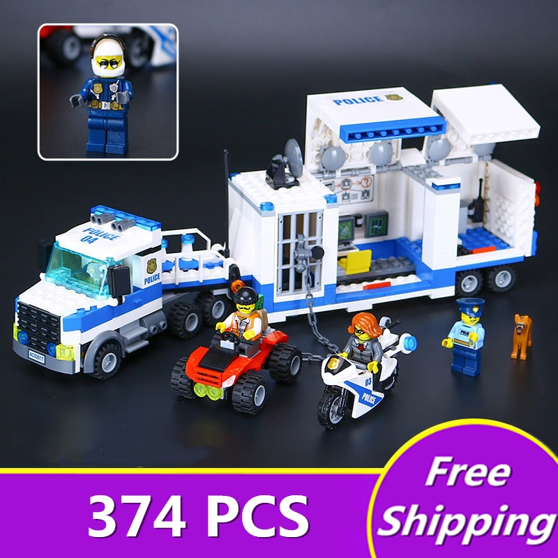 Bevle Store 2017 legoINGLY 02017 347Pcs URBAN Series Police Mobile Command Center Building Blocks 60139 For Children Toys managing the store