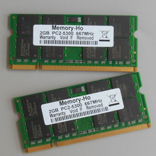 Kit 4GB 2X2GB PC2-5300 DDR2-667 667Mhz DDR2 Laptop Memory SODIMM Notebook 4G RAM Non-Ecc 200pins Unbuffered Low density