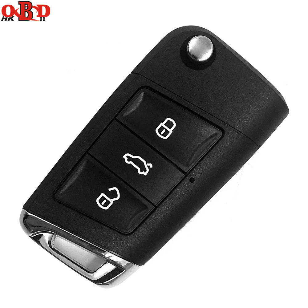 HKOBDII New 3 Buttons <font><b>Remote</b></font> <font><b>Key</b></font> Shell Replacement Fob Case For Volkswagen VW <font><b>Golf</b></font> <font><b>7</b></font> with Logo image