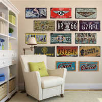License Plate Vintage Metal Painting Tin Signs Home Decor 20x30cm Bar Gallery Garage Decoration Retro Mural
