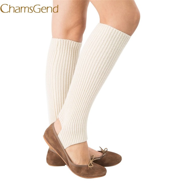 Online Shop Chamsgend Leg Warmers Newly Design Women Knitted Long