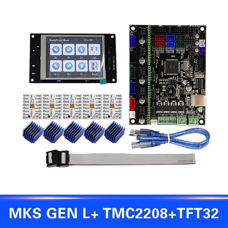 Pour MKS GEN L Compatible avec TFT32 LCD Support D'affichage TMC2208 Moteur Pilote 3D Kits D'impression SL @ 88