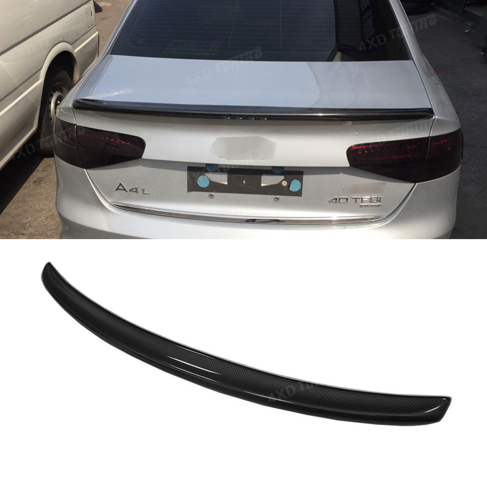 For Audi A4 Carbon Rear Spoiler S4 Style A4 B8.5 Sedan Carbon Fiber Rear Spoiler Rear Bumper Trunk wing 4 doors 2013 2014 2015 велосипед kross level a4 2014