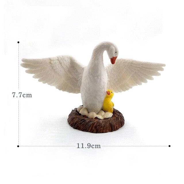 Little Lamb Swan Cock Hen Animal model Rooster Chicken sheep figurine home decor miniature fairy garden decoration accessories 5