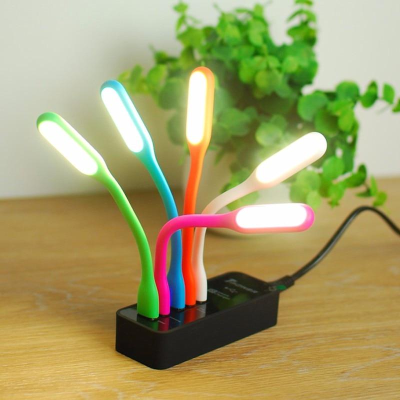 Novelty 5V USB LED Night Light Powerbank Lamp Nightlight Desk Reading Book Lamps for PC Mobile Power Lampe Lighting Fixture