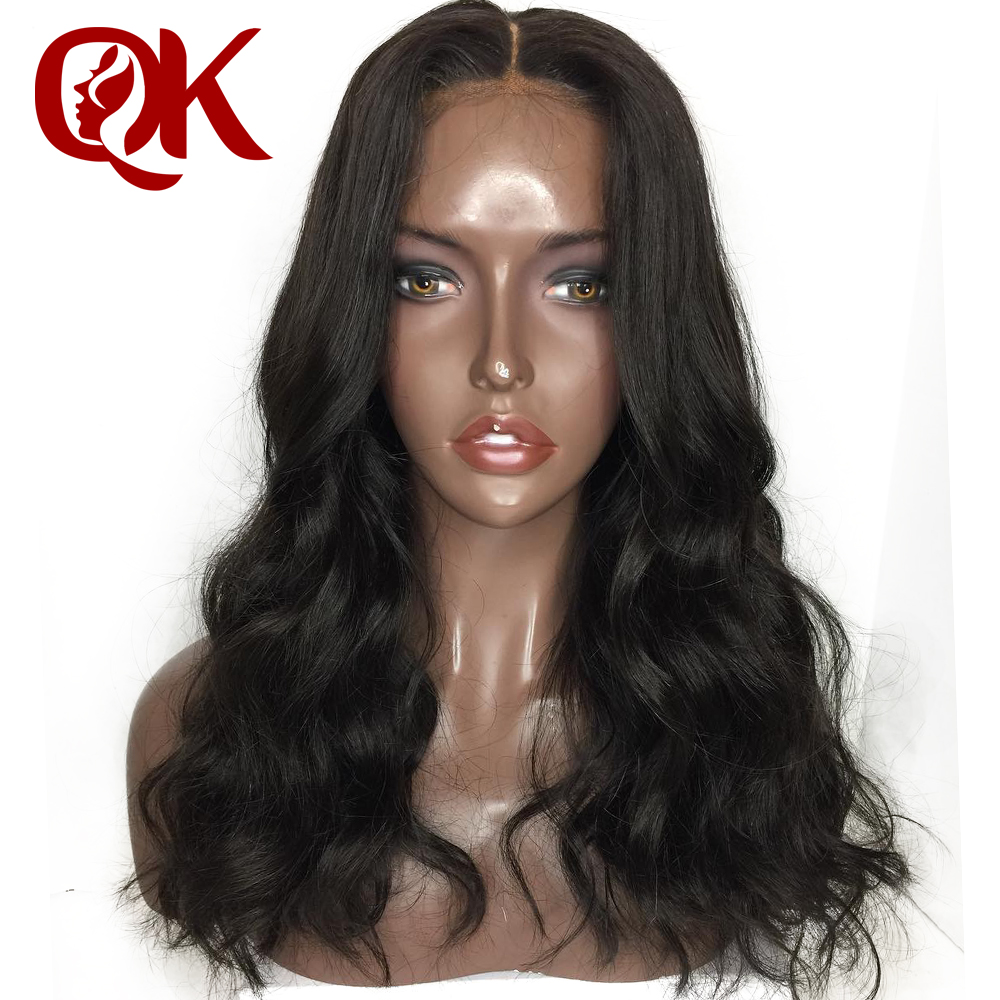 QueenKing Hair 360 Lace Frontal Body Wave Wig Pre Plucked With Baby Hair Natural Color Brazilian