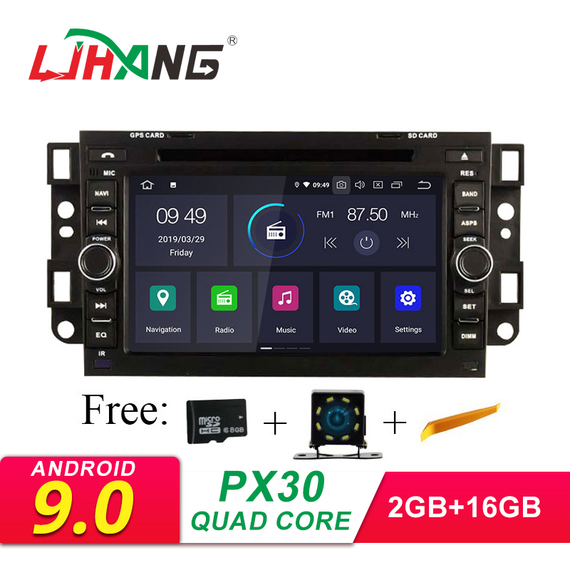 LJHANG Android 9.0 DVD Do Carro Para Chevrolet Aveo Epica Captiva 2005-2011 2 Din GPS Wi-fi Multimídia Som Do Carro unidade Central de rádio FM IPS
