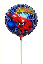 8.5 Inch 20pcs/set Spiderman Foil Balloons with Sticks Spiderman Party Supplies Classic Inflatable Toys For Kids