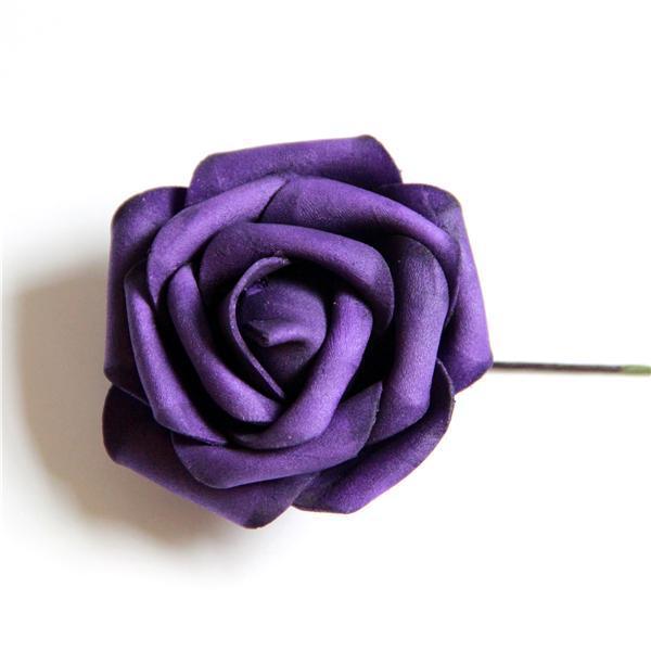 2207df7a3937 € 11.71  50 unids color morado oscuro partido ramo de la boda centros de  mesa de espuma PE rosas flores pulsera rosas flores Home decoración Floral  ...