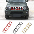 New Products for 5 PCS Red/Black ABS Grille Insert Grill Cover Trim Exterior Accessories Decoration for Suzuki Jimny 2 Colors
