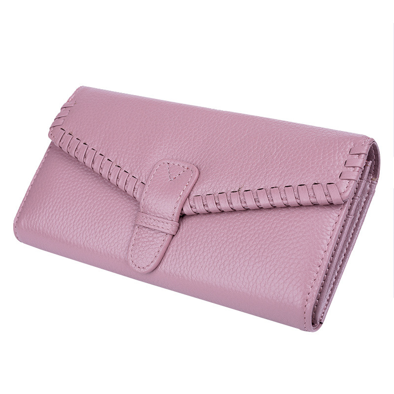 2018 Fashion Genuine Leather Wallet for Women Lady Long Wallets Women Purse Female Wallet Clutch Card Holder Coin Pocket DC142 2017 new genuine leather wallet women lady long wallets women purse female 5 colors women wallet card holder day clutch dc234