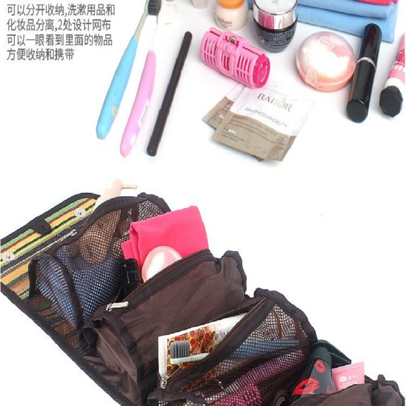 Image 1 - Outdoor camping portable wash bag travel cosmetic bag folk style finishing bag storage bag hanging bag fashion handbags-in Storage Bags from Home & Garden