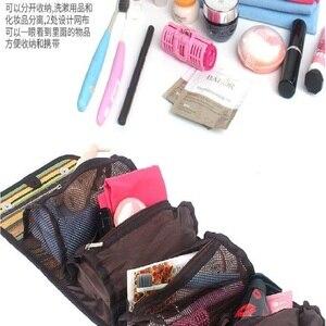 Image 1 - Outdoor camping tragbare wash bag travel kosmetik tasche folk stil finishing tasche lagerung tasche hängen tasche mode handtaschen