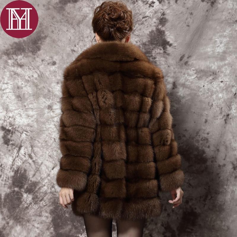 Top quality ! women fur coat winter brand luxury natural purple ...