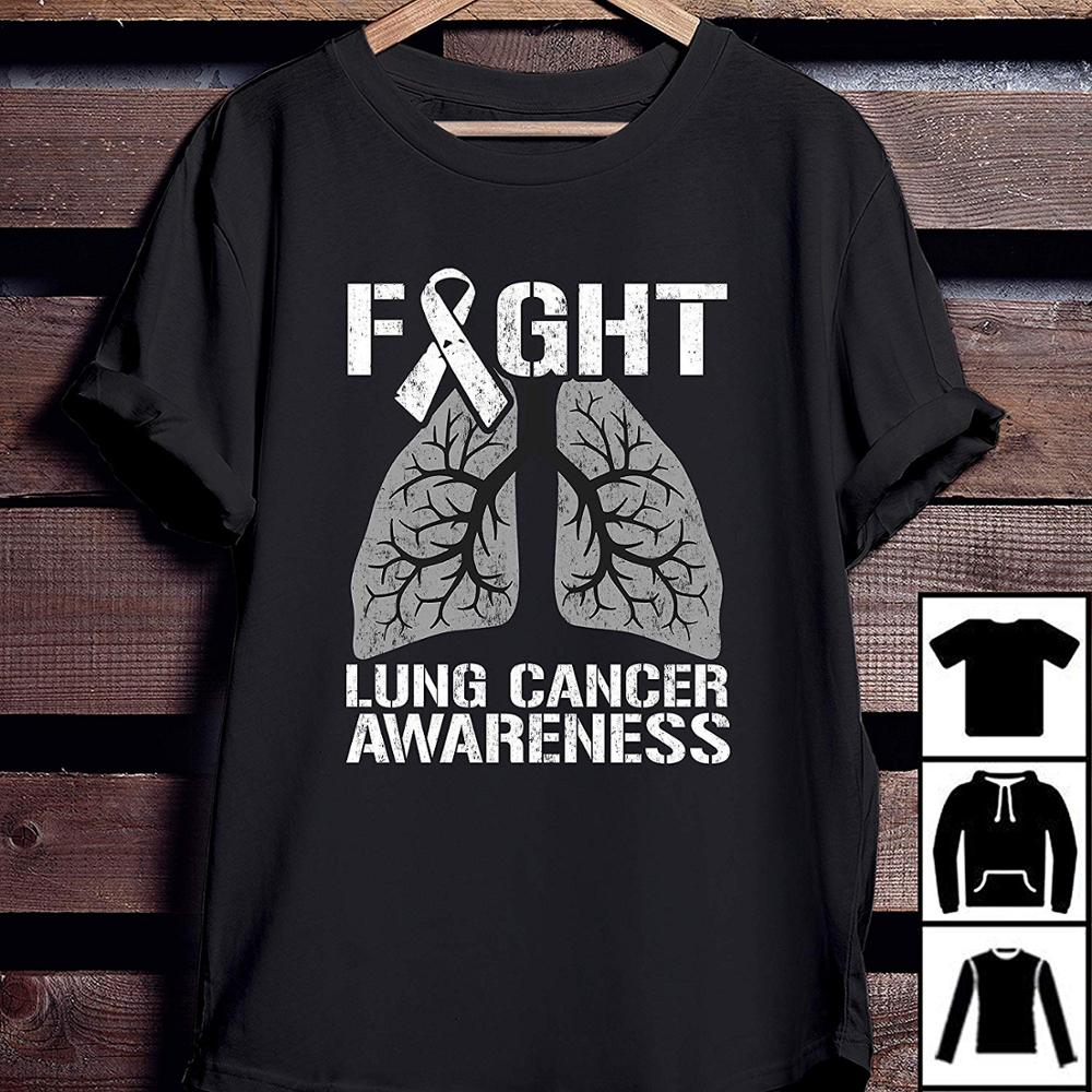 Lung Cancer Awareness Shirt Fight Lung Cancer T-Shirt 2019 Hot Sale New Men'S New Fashion Summer Slim T Shirt Brand Clothing
