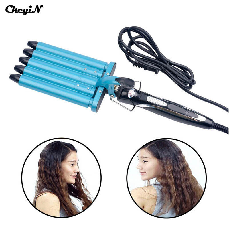 Nano Titanium 5 Barrels Five Pipe Joint Big Hair Wave Waver ...