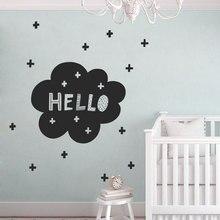 Cute Hello Wall Decal Scandinavian Nursery, Modern Decals,Nordic Vinyl Sticker For Babys Bedroom Self-adhesive Murals BO14
