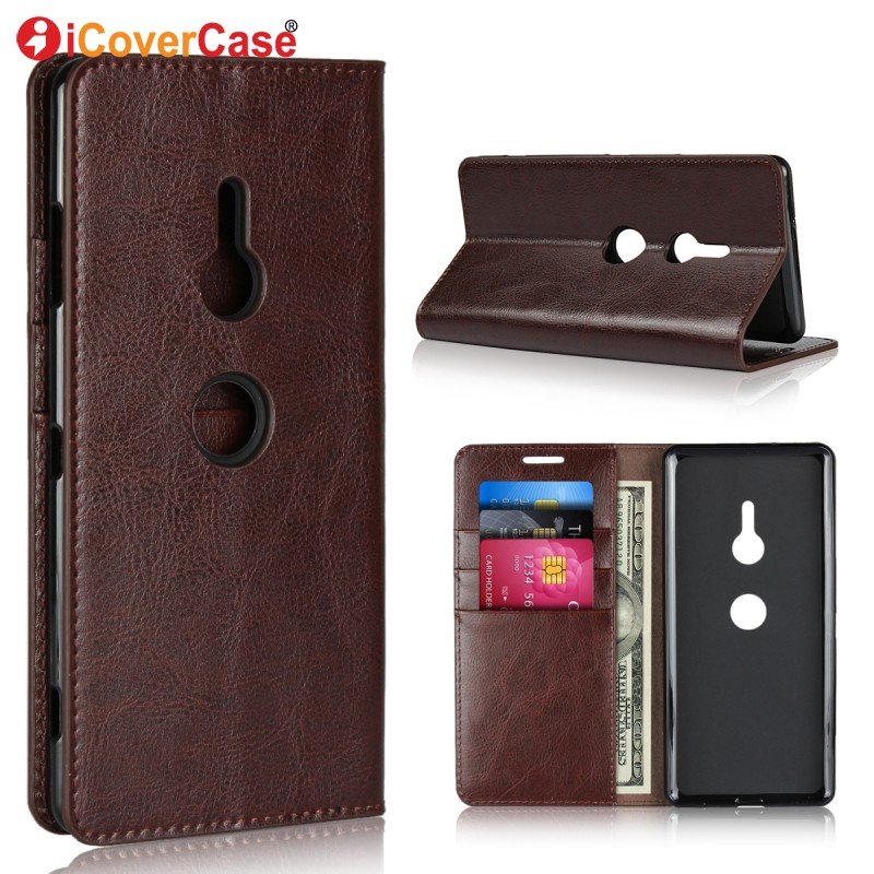 Luxury Leather Case For Sony Xperia XZ3 Wallet Soft Silicon Cover For S