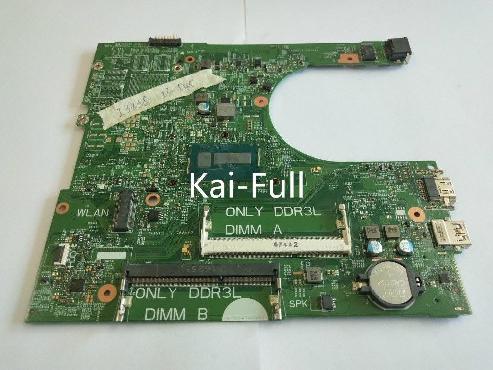 Kai-Full PFT7H 0PFT7H CN-0PFT7H For <font><b>Dell</b></font> <font><b>3458</b></font> Motherboard with I3-5005U 2GHz ALL FUNCTIONS TESTED image