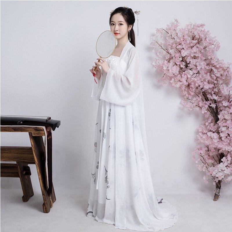 Chinois Tang dynastie Costume ancien fée princesse robes traditionnelles femmes robe Hanfu vêtements de danse folklorique