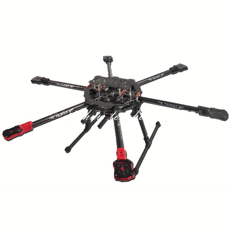 타로 tl68c01 fy690s 전체 탄소 섬유 6 축 항공기 3 k 접는 hexacopter 690mm fpv rc 사진-에서부품 & 액세서리부터 완구 & 취미 의  그룹 1