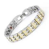 Magnetic Bracelet Pulseras Stainless Bracelets Mens Bracelets Health Energy 5 in 1 Bio Magnet Therapy Bracelet
