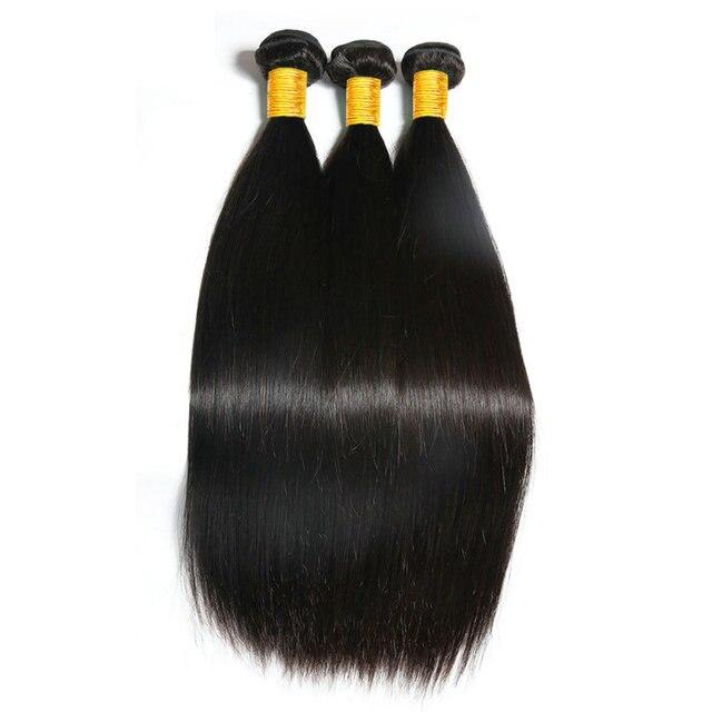 Peruvian Straight Hair Bundles Yavida 100% Human Virgin Hair Weave Bundles  Weave Natural Color Non Remy Hair Extension 1/3/4pcs