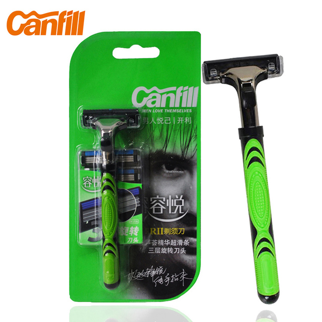 Perfect CANFILL Menu0027s Manual Shaving Razor Replacement In Stainless Steel Blades (1  Pc Handle, 5pcs