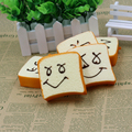 30PCS Squishy Cute Face Bread Charm Phone Straps Toast Sliced Wholesale Free Shipping