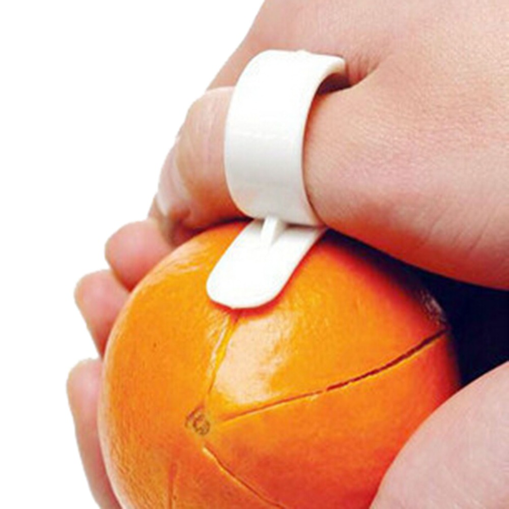 Fruit-Tool Kitchen-Gadgets Peeler Orange Finger-Type Plastic Creative 1pc With Ring Cleverly