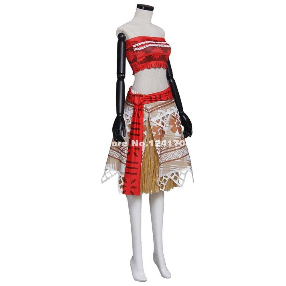 987cc4b1802 New Movie Moana Outfit Princess Dress Costumes Halloween Cosplay Moana  Skirt Cosplay Costumes Plus Size Custom on Aliexpress.com