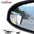 2 pçs/lote Adjustabe HD Vidro Convexo Blind Spot Espelho para parque de estacionamento Traseiro Do Carro e Da Motocicleta espelho retrovisor Chuva Sombra