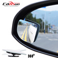 2pcs/lot Adjustabe HD Glass Convex Car and Motorcycle Blind Spot Mirror  for parking Rear view mirror Rain Shade