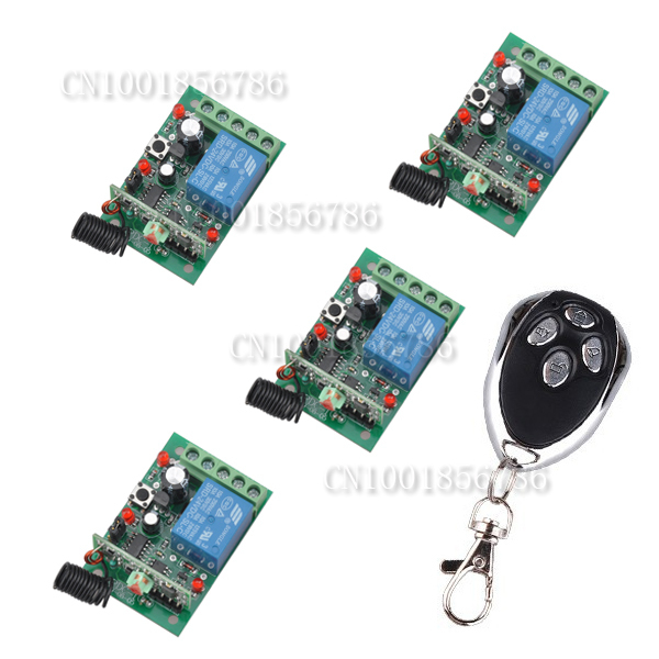 HOT!DC24V 4CH RF wireless remote control switch system 4Receiver&1Transmitter 1000M 1000W Toggle /MomentaryHOT!DC24V 4CH RF wireless remote control switch system 4Receiver&1Transmitter 1000M 1000W Toggle /Momentary