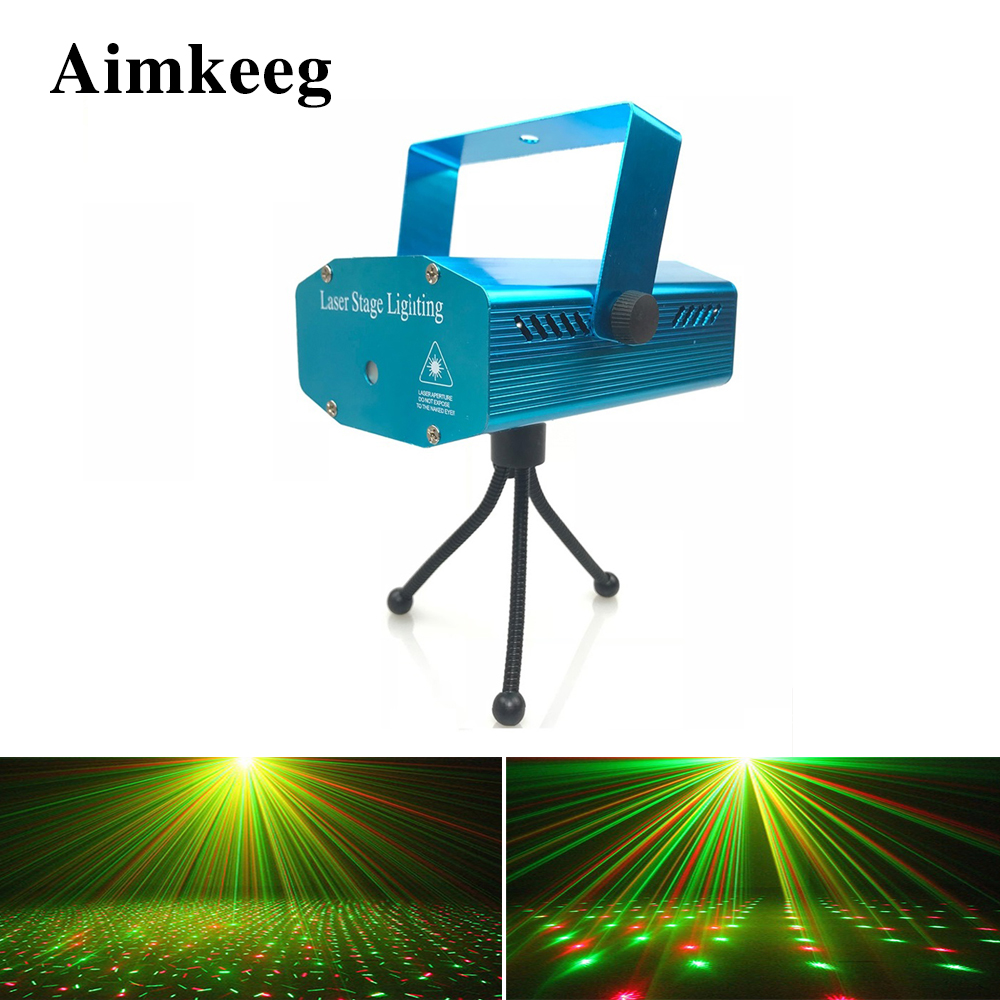 Stage Light LED Laser Projector Christmas Decoration Professional DJ Disco Lamp Prom Club Christmas Party Strobe Lights