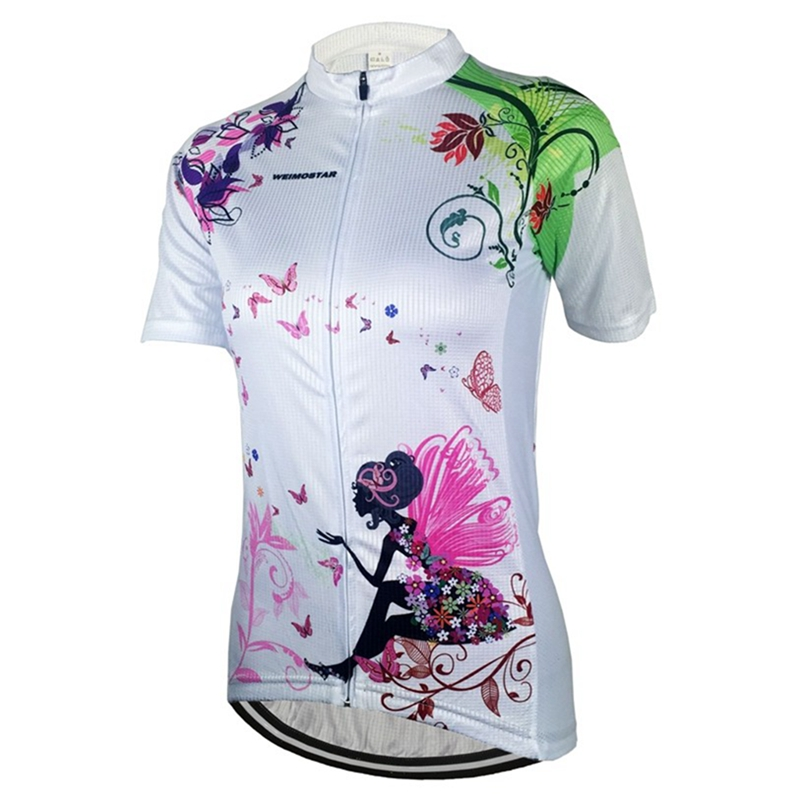 5356b0901 2017 Women Cycling Jersey Short Sleeve Jersey Deep Blue Pink Red Bike Wear  Bicycle Clothing Ropa Ciclismo Top