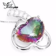 Coronary heart 6ct Real Mystic Topaz Pendant Attraction Actual 925 Sterling Silver Effective For Lover Jewellery Model New Trend Free Delivery