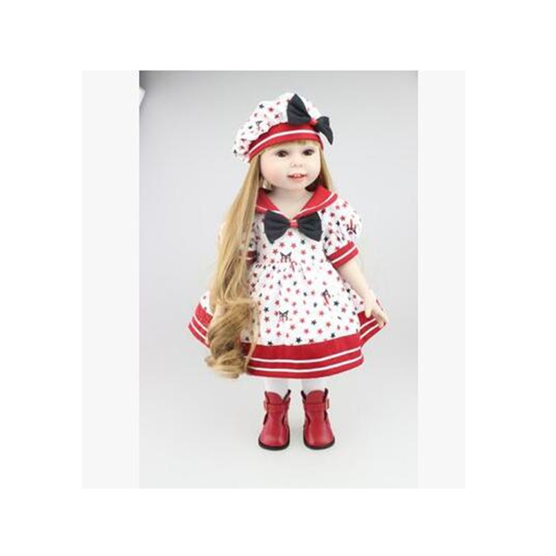 American Girl Doll Clothes Outfit Set for 18 Inches America Dolls,Lovely Fashion Doll Dress Accessories Beautiful Toy Skirt