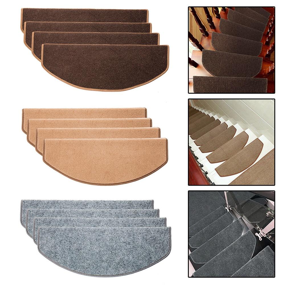 Non Slip Self Adhesive Carpet Stair Tread Mat Home Staircase | Padded Carpet Stair Treads | Stair Risers | Adhesive Padding | Bullnose Padded | Staircase Makeover | Flooring