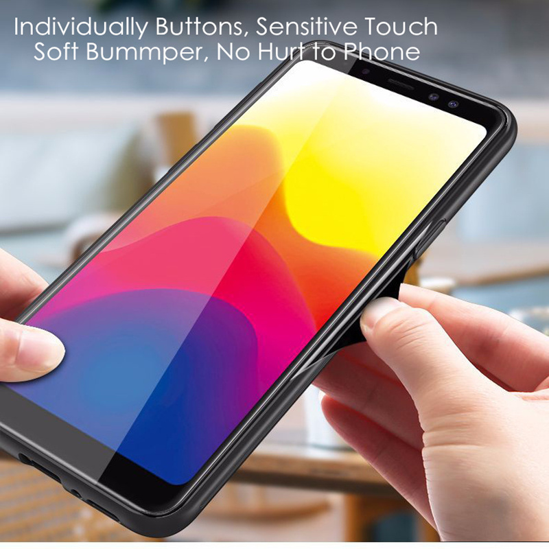 Samsung S9 Case S9 Plus rəngsiz 9H Temperli Şüşə Aurora Gradient - Cib telefonu aksesuarları və hissələri - Fotoqrafiya 6