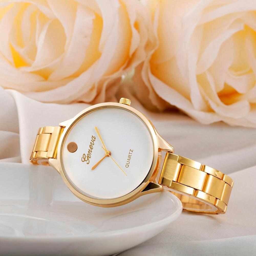 2018 Fashion Golden Watch Wome...