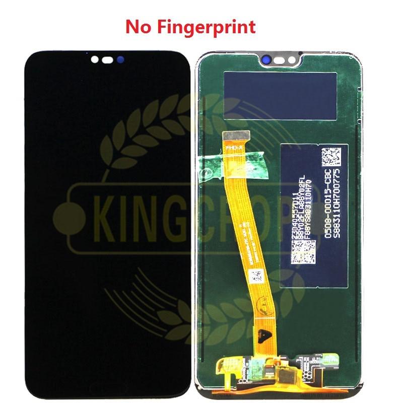 Image 5 - Para Honor 10 pantalla con marco para Huawei Honor 10 pantalla LCD Panel táctil con piezas de repuesto de ensamblaje de huellas dactilaresPantallas LCD para teléfonos móviles   -