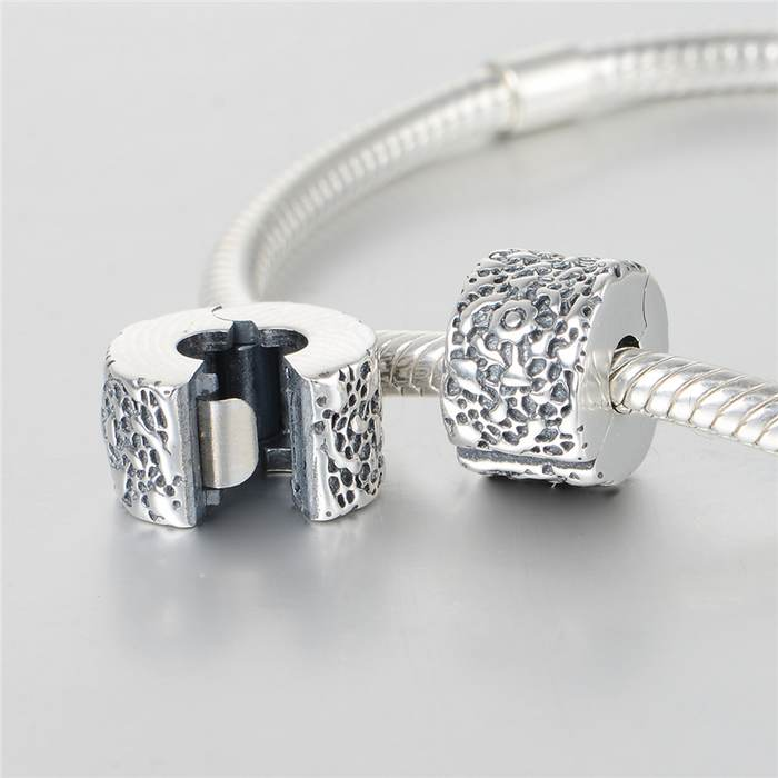 Layers of Lace Clip Charm Beads 100% 925 Sterling Silver DIY Jewelry Fit pandora charms silver 925 original