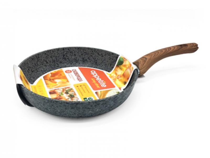 Frying Pan APPETITE, GREY STONE, 20 cm frying pan нева metal tableware cast scandinavia grey 26 cm