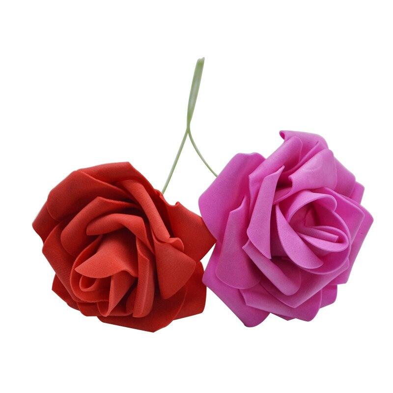 10 шт. 8 см большие ПЭ пенные цветы искусственные розы цветы Свадебные букеты Свадебные украшения для вечеринки DIY Скрапбукинг Ремесло поддельные цветы