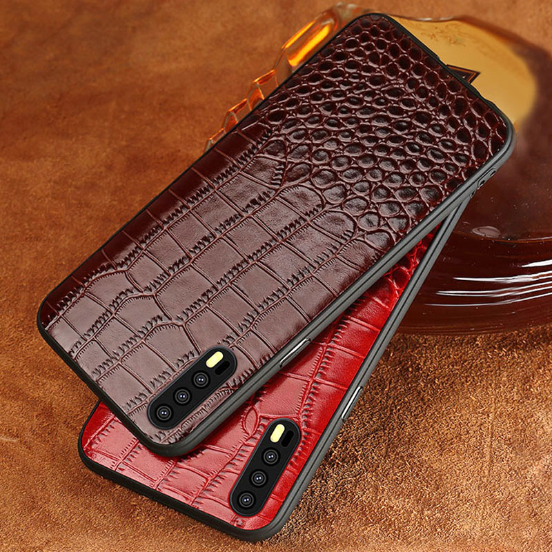 Phone case For Huawei Mate 9 10 P10 P20 Pro case crocodile texture Genuine leather For Honor 9 V9 V10 back cover